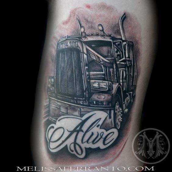 Semi Truck Tattoos tattoos by melissa ferranto : tattoos : realistic : semi ...