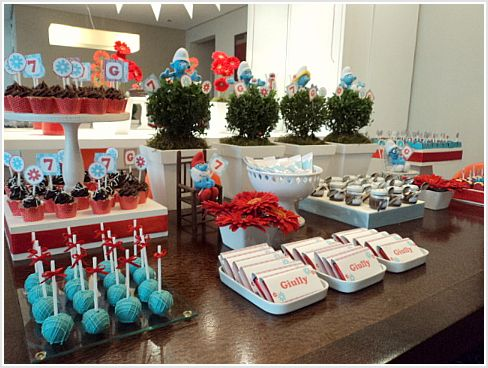 Smurfs Theme party: