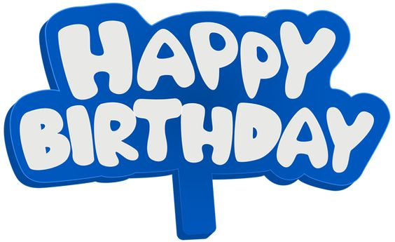 Blue Happy Birthday Sign PNG Clip Art Image