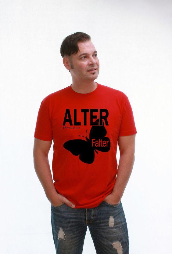 T-Shirt Alter Falter red - knopfgelb onlineshop