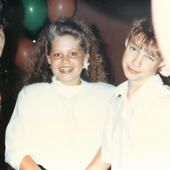 "Pin for Later: D.J. Tanner and Kimmy Gibbler Are Just the Cutest Real-Life BFFs  Andrea: ""Pretty sure I was just jealous of @candacecbure's XO earrings in this photo. 1989. #throwbackthursday"""