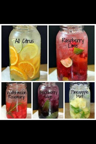 A variety of detox water.. All are Yummy
