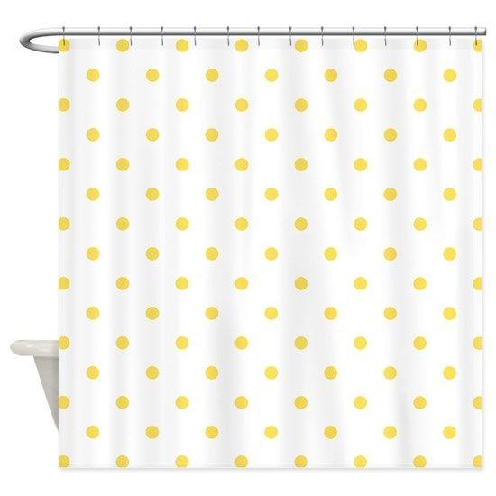 Yellow Canary Polka Dots Pattern Shower Curtain By 13 Tactical In 2020 Patterned Shower Curtain Small Bathroom Diy Shower Curtain