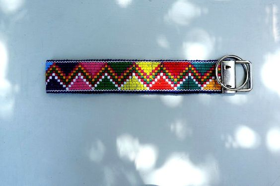 Unique colorful  wristlet key chain custom key fob by VivaGuate