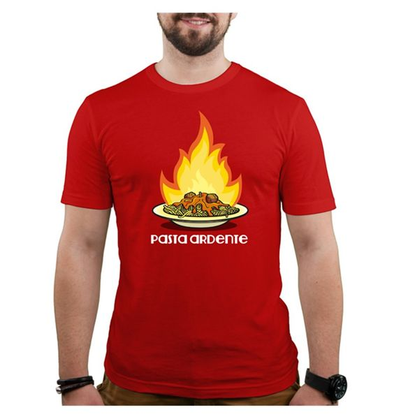 Si te gustan los platos muy hechos, te gustará esta deliciosa camiSeta tan bien hecha. ¡Cuidado, que quema!
