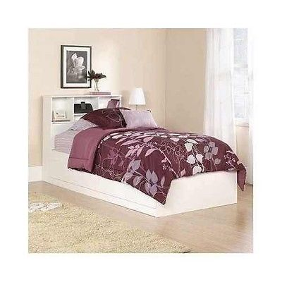 #Priceabate Girl's White Twin Bed with Storage Drawers Bookshelf Headboard Kid's Bedroom Nap - Buy This Item Now For Only: $214.98