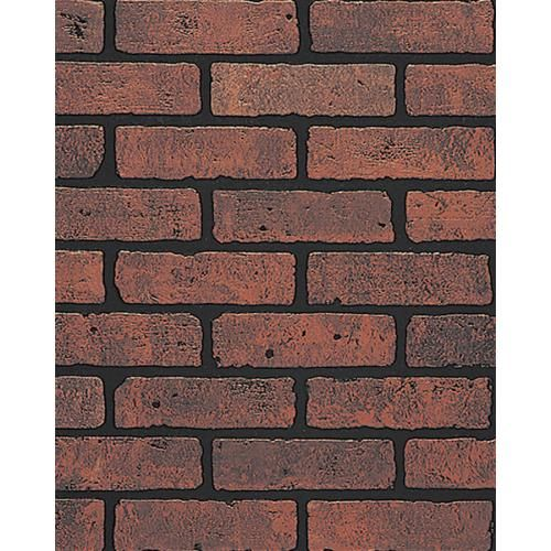 Lowes Brick Faux Paneling Enteryway Coat Accent Wall: DPI 47.75-in X 7.98-ft Embossed Red Brick With Black Grout