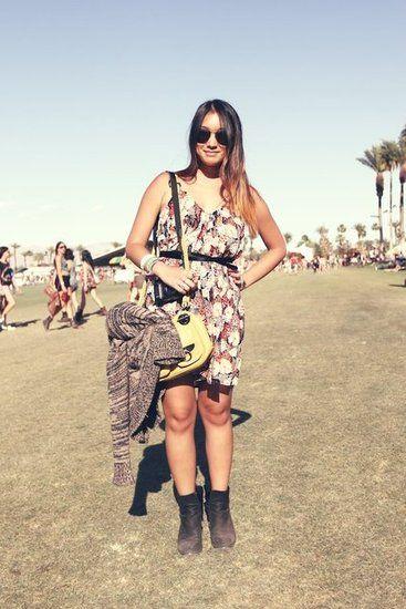 A pretty print on a perfect-fit sundress at Coachella