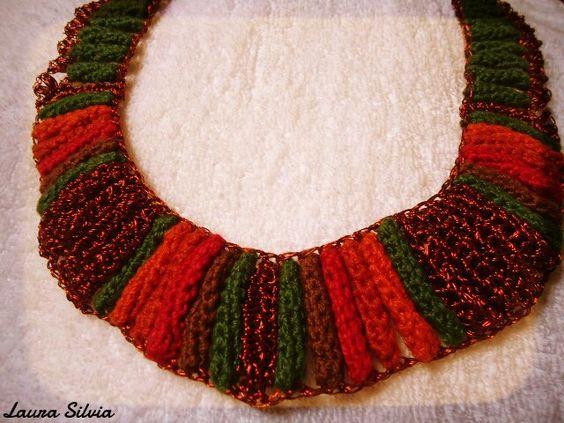 colar de crochet