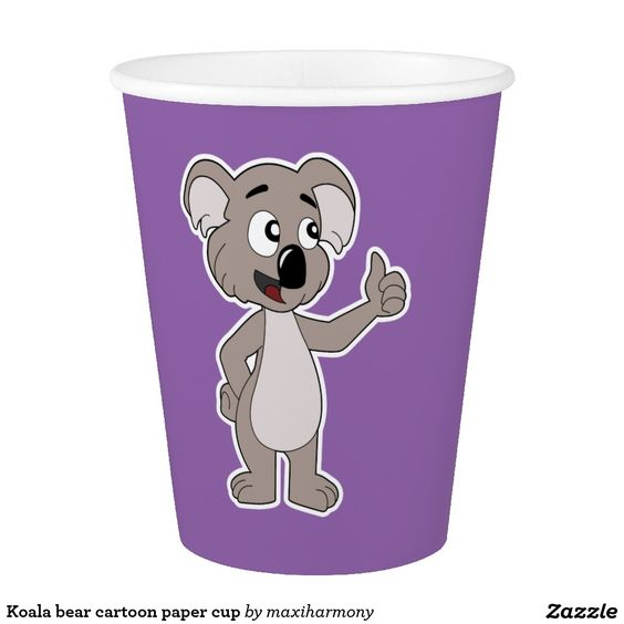 Koala bear cartoon paper cup