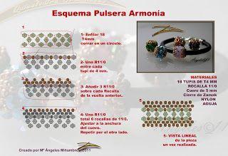 Quienlodira Creaciones: Esquema y Pulsera Armonia