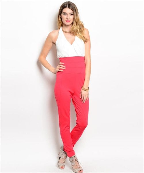 Croral And White Jumpsuit