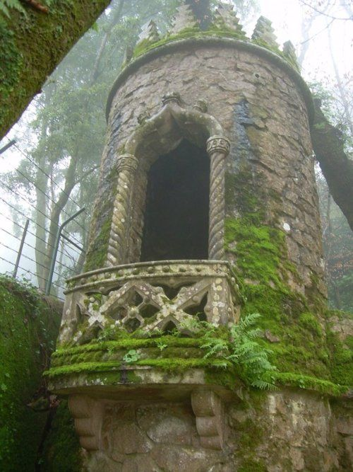 Moss covered turret