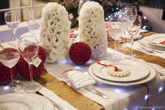 Mesa Branca para Natal e Reveillon