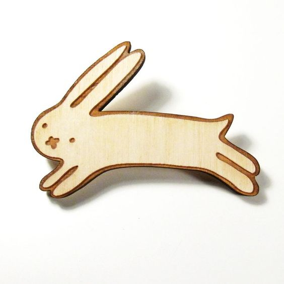bunny pin, too cute!
