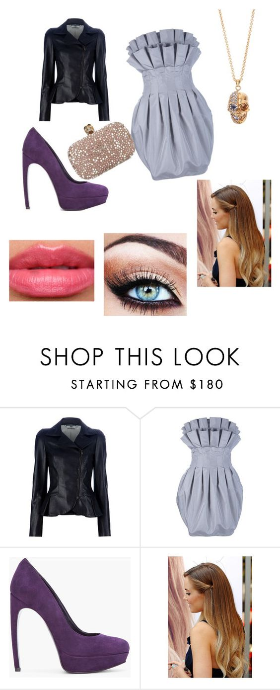 """Edge on Elegance"" by thepotterdirection ❤ liked on Polyvore featuring Alexander McQueen and Too Faced Cosmetics"