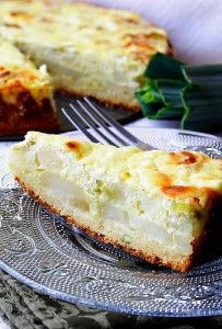 Recipe For  Potato Pie with Leeks and Feta Cheese