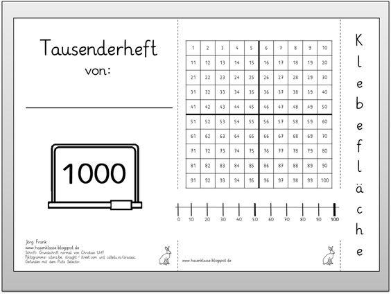 arbeitsblatt vorschule 187 1000er tafel zum ausdrucken
