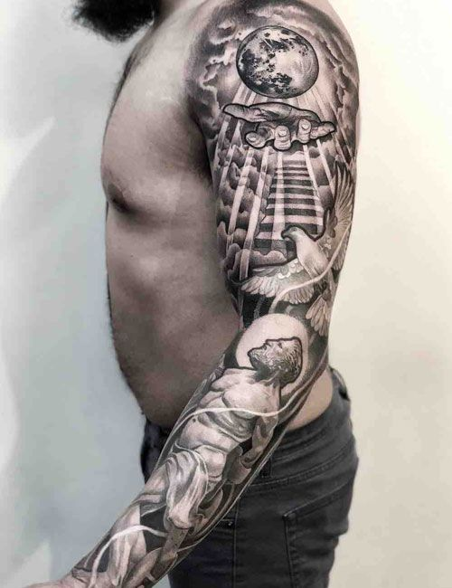 125 Best Sleeve Tattoos For Men Christian Sleeve Tattoo Tattoo