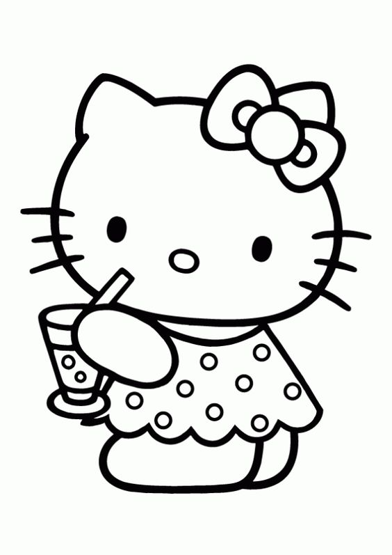 Hello Kitty Color page