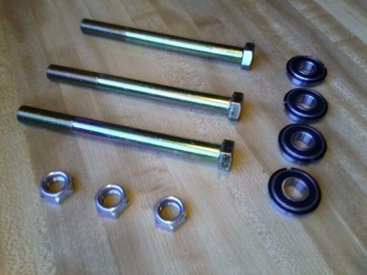 Mini Bike Wheel Fork Axle Bolt Nut Bearings Complete Kit Ruttman