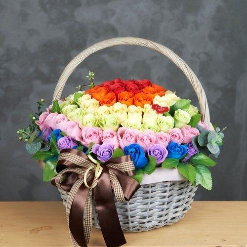 Canasta de rosas ♥