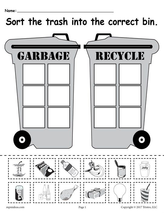 Sorting Trash Earth Day Recycling Worksheets 4 Printable Versions Earth Day Worksheets Recycling Activities Earth Day Crafts Recycling worksheets for preschoolers