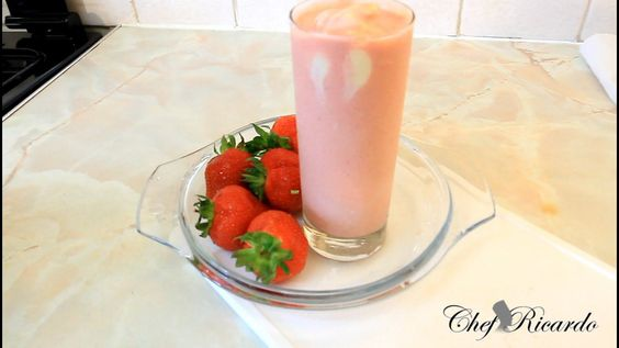 A Requested Fresh Home Made Ice Cream Strawberry Smoothie Best Recipe Fo...