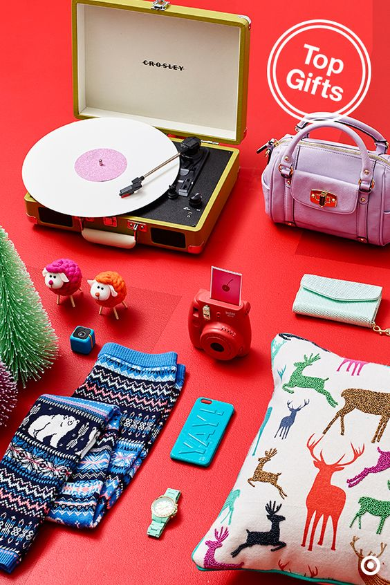 Give a gift that's just as much fun for you to shop as it is for them to open. Think bright colors and throwbacks that are undeniably festive and fun—like this Crosley Cruiser turntable, Instamix mini camera or Threshold beaded reindeer pillow. Perfect for the kids or the kid the holidays bring out in us.