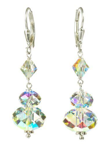 Sterling Silver Swarovski Elements Crystal Aurora Borealis Large Rondelle Drop Earrings Amazon Curated Collection, http://www.amazon.com/dp/B00400MX7Y/ref=cm_sw_r_pi_dp_wa-hqb13N97KT