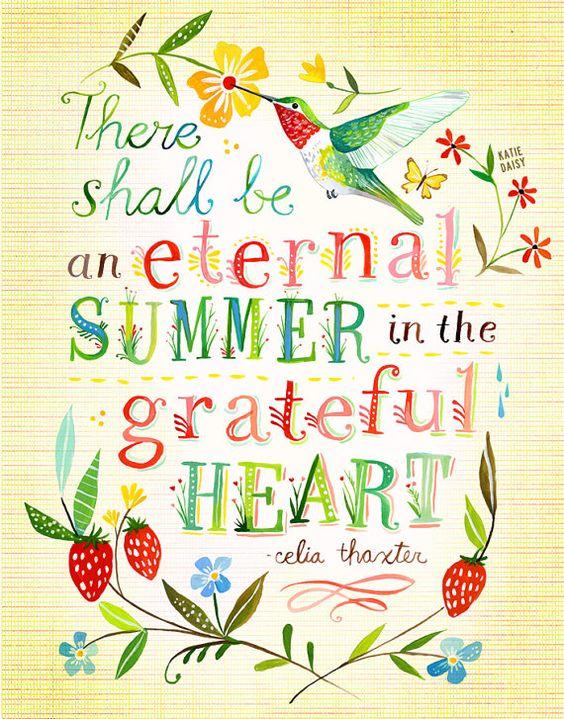 Eternal Summer art print Hummingbird Floral Wall by thewheatfield