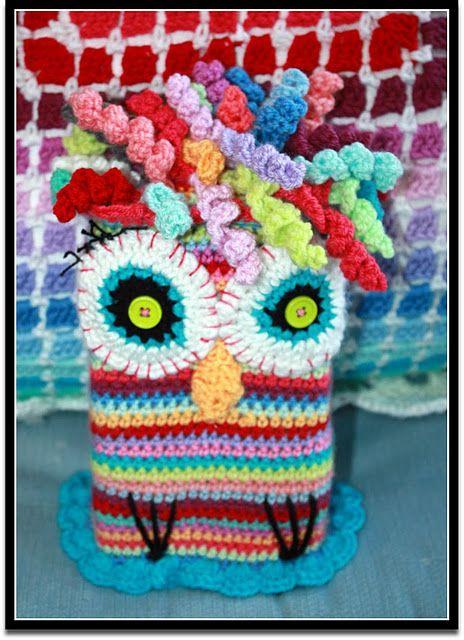 Thick as a Brick- Jethro Tull#owl#crochet@Kate Stubenvoll