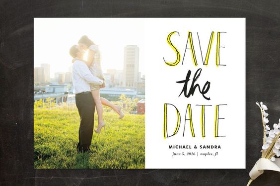 Sketched Letters Save the Date Cards by Kelly Nasu...   Minted