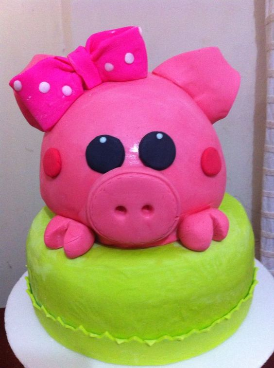 Torta cerdito pink