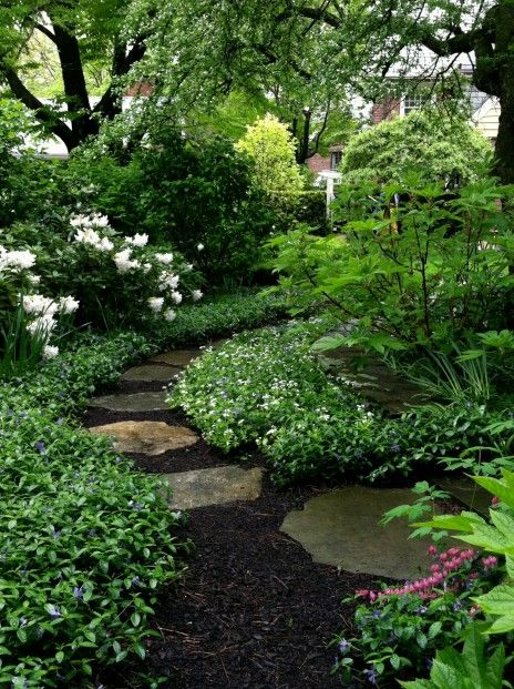 Enchanting Small Garden Landscape Ideas With Stepping Walk: Garden Landscape & Irrigation