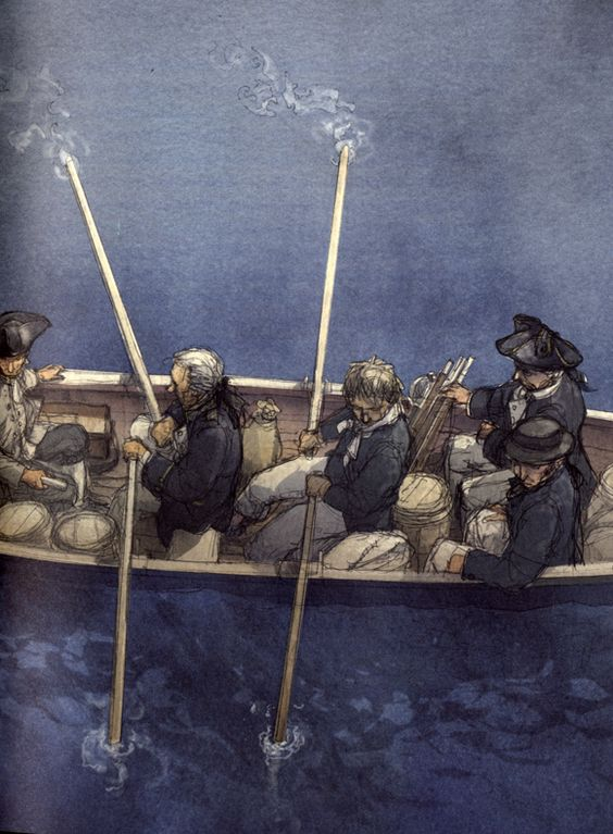 Ilustración de Jordi Vila Delclòs  para la obra La isla del tesoro, de Robert Louis Stevenson.