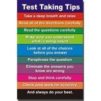 Test taking tips!
