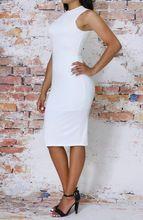 White Bodycon Dress w/cut out Back