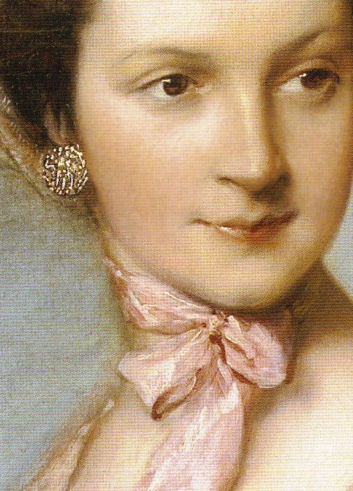 detail from Portrait of Henrietta Vernon (Lady Grosvenor, wife of Richard, first Earl Grosvenor), 1766/67 by Thomas Gainsborough
