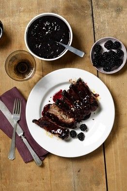 Blackberry BBQ sauce  2 tablespoons kosher salt, plus more to taste    2 tablespoons black pepper    1 tablespoon hot smoked paprika    1¼ cups honey    ¾ pound (about 2½ cups) blackberries    ½ cup blackberry preserves    ¼ cup maple syrup    3 tablespoons bourbon (or whiskey)    3 tablespoons balsamic vinegar    1 tablespoon plus 2 teaspoons red-pepper flakes