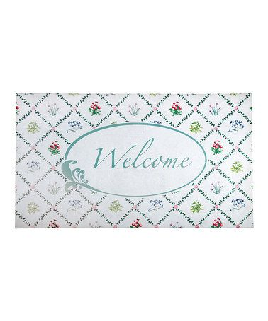 Take a look at this Botanical Welcome Rubber Doormat by Fallen Fruits on #zulily today!