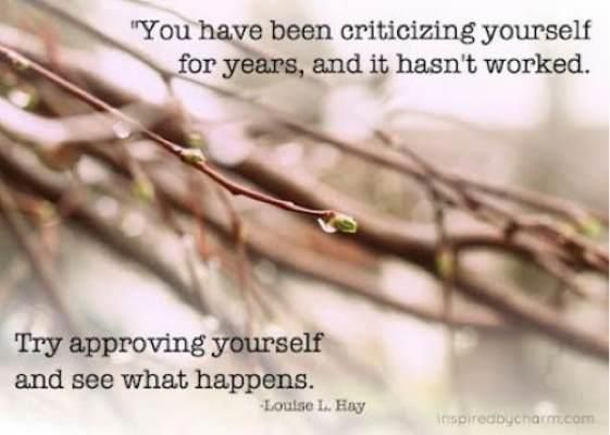 Self-approval...a powerful thing