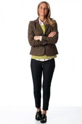 Newhouse tweed blazer dark brown 3199:- hos zafi.se