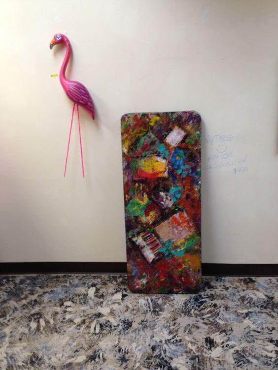 Lisa Allison's art table