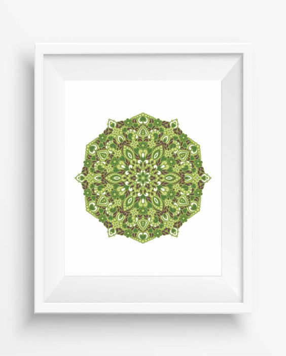 Mandala,Mandala Art Print,Zen, meditation,home decor,digital prints,floral mandala in ethnic style ,jpeg,instant dowload,Wall Printable