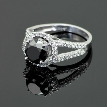 2.5 Ct Black Diamond Ring....too bad it's an engagement ring. =/