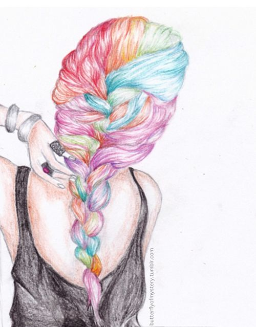 Colors, French and Hair drawings on Pinterest Braided Hair Drawings Tumblr