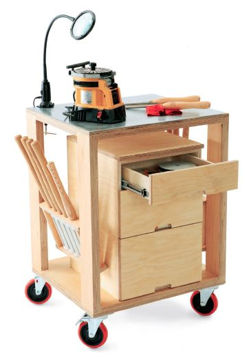 how to build a mobile tool storage and sharpening cart On work cart plans