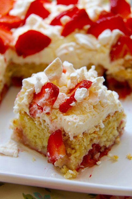 Eton Mess Cake - A Strawberry & Vanilla Moist Sponge decorated with everything Eton Mess – sugary, strawberry-y and yum!
