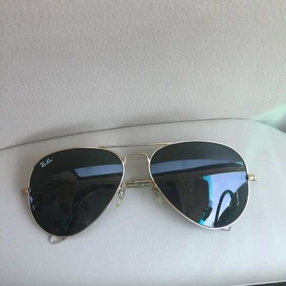 RayBan Aviators Good condition aviators. Little scratches but not bad. Large metal Ray-Ban Accessories Sunglasses